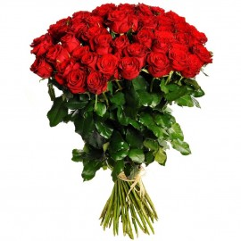 51 long red rose 70 cm