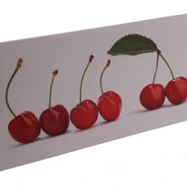 Greeting Card Cherries 10x21 cm