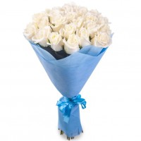 White roses 60 cm (select the number of flowers)