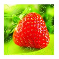 Greeting Card Strawberry 13x13 cm