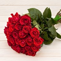 Red roses 50 cm flower bouquet (select number of flowers)