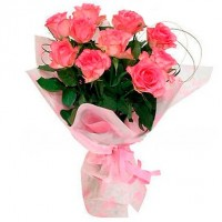Pink rose bouquet 50 cm (bigger or smaller, select)